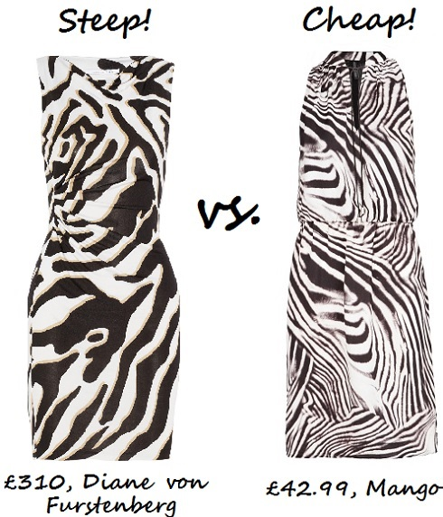 steep v cheap zebra print