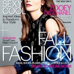 Zooey Deschanel sparkles for Marie Claire US in Saint Laurent Paris