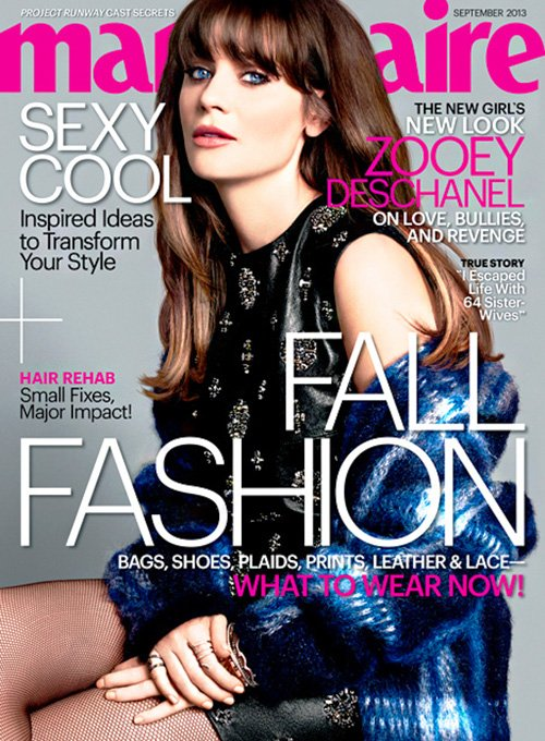 zooey deschanel marie claire us september