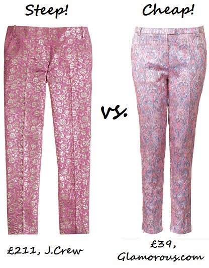 Steep vs. Cheap: Jacquard trousers