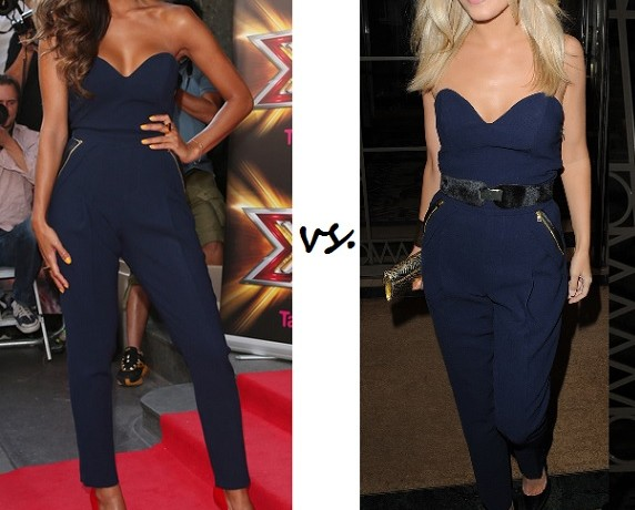 Nicole Scherzinger vs. Mollie King…Who wore Three Floor better?