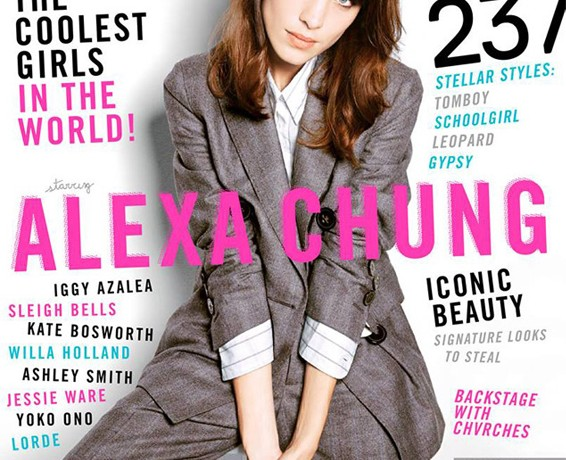 Alexa Chung talks It girl status in October's Nylon