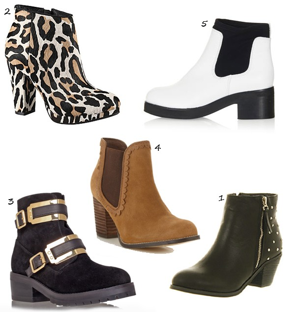5 autumnal ankle boots you can't live without!