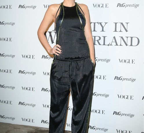 Blake Lively wears Gucci SS14 jumpsuit moments after its MFW debut