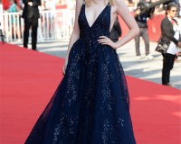 Dakota Fanning wows in Elie Saab Couture at Venice Film Festival