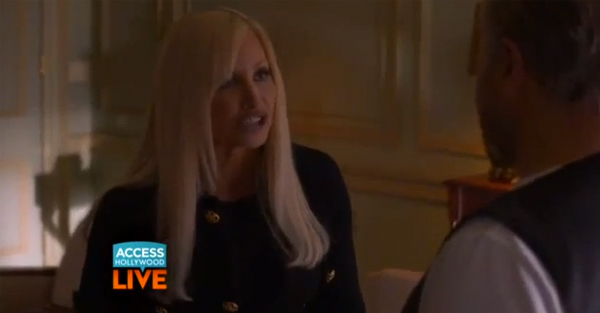 Watch Gina Gershon's uncanny transformation into Donatella Versace
