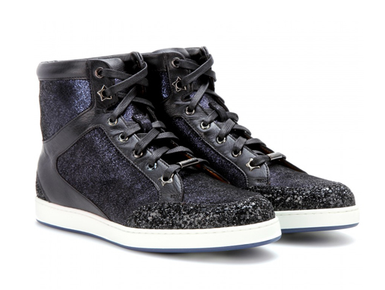 Lunchtime Buy: Jimmy Choo Tokyo leather and glitter high-top sneakers