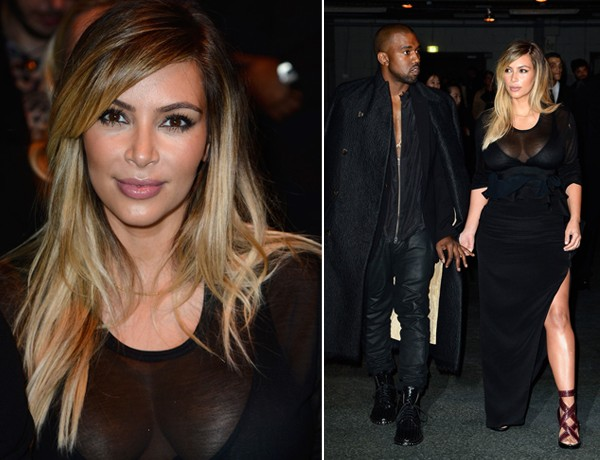 Kim Kardashian makes a sexy appearance at the Givenchy PFW show