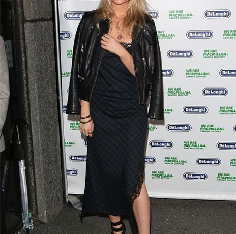 Laura Whitmore wears Zara (Louis Vuitton inspired) dress