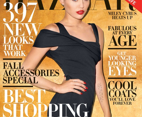Miley Cyrus in Burberry Prorsum for Harper's Bazaar October