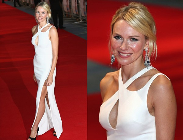 Naomi Watts wears Versace for Diana world premiere