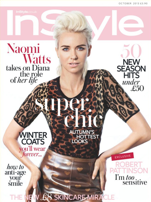 Naomi Watts rocks Burberry for InStyle UK October
