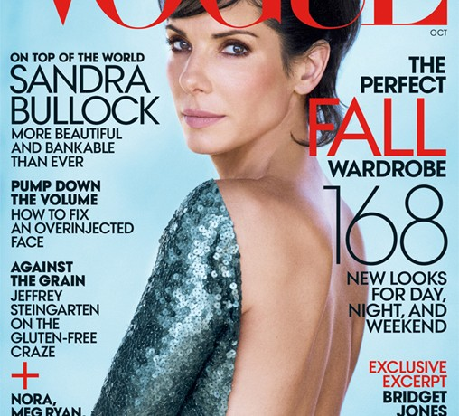 Sandra Bullock wows in Marc Jacobs for Vogue US October (her fifth time!)