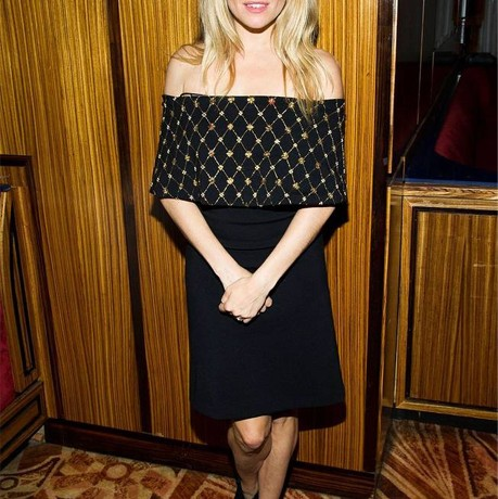Sienna Miller wows in off-the-shoulder Alexander McQueen