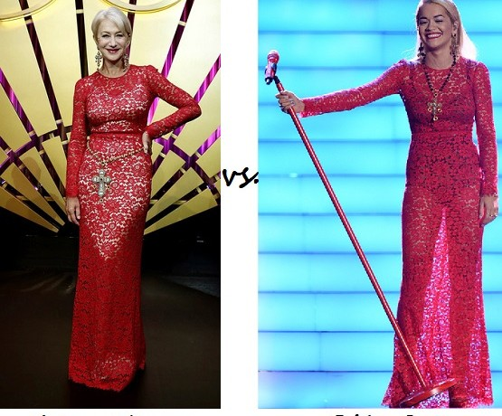 Dame Helen Mirren vs. Rita Ora…Who wore Dolce & Gabbana better?