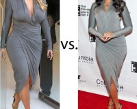 Kim Kardashian vs. Jennifer Hudson…Who Wore Donna Karan Better?