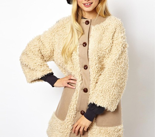 Lunchtime Buy: ASOS Longline curly fur coat