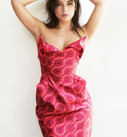 Daisy Lowe models Vivienne Westwood Red Carpet Collection for Matches