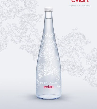 Elie Saab designs limited edition Evian bottle