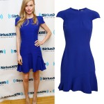 Kate Bosworth stuns in Alexander McQueen crepe dress