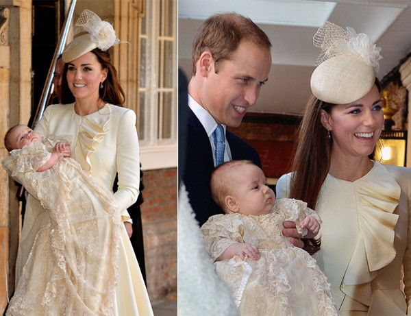 Kate Middleton wears Alexander McQueen to little Prince George's Christening!