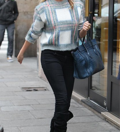 Kate Upton is chic and cosy in Stella McCartney