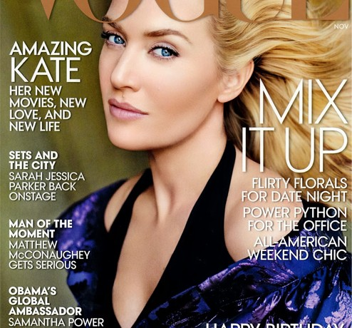 Kate Winslet (apparently?) covers Vogue US November issue