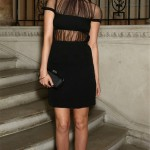 Laura Whitmore does sheer, sexy, gothic glam in Christopher Kane