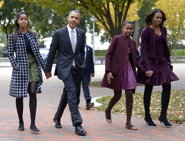 Michelle Obama rocks Jimmy Choo's over-the-knee boots