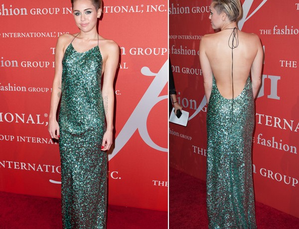 Miley Cyrus tones down and glams up in sparkly Marc Jacobs