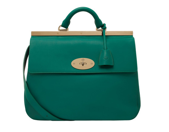 Lunchtime Buy: Mulberry emerald classic calf Suffolk bag