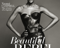 Naomi Campbell wears skin-tight Michael Kors for The Edit