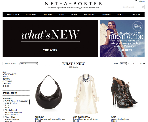 Is Net a Porter for sale?