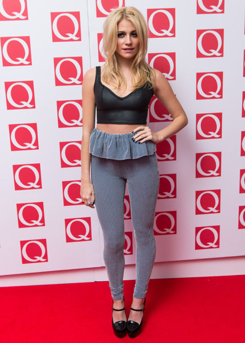 Pixie Lott keeps it sleek, simple, and sexy at the Q Awards