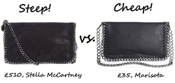 Steep vs. Cheap: Chain detail shoulder bag