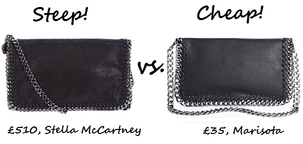 Steep vs. Cheap: Chain detail shoulder bag