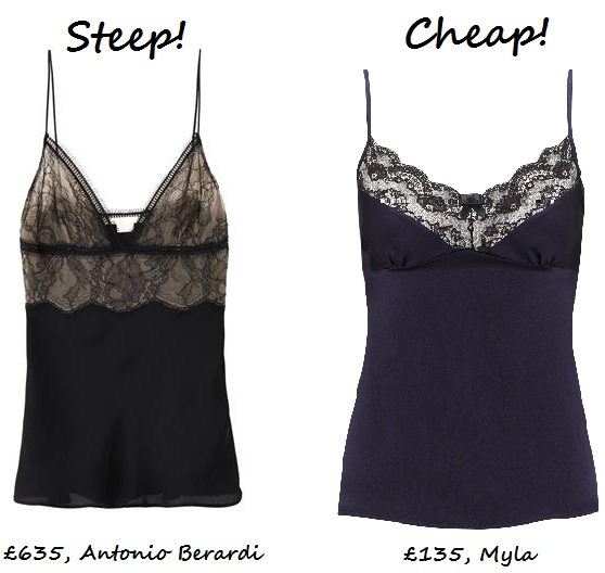 Steep vs. Cheap: Lace cami top