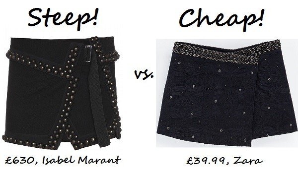 Steep vs. Cheap: Embellished mini skirt