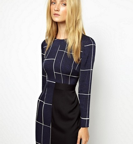 Office to bar: Whistles Slate Print Bodycon Dress