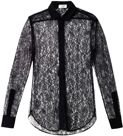 Saint Laurent silk and lace shirt: Yay or Nay?
