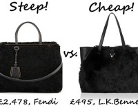 Steep vs. Cheap: Shearling tote