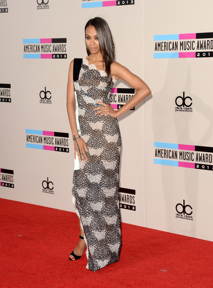 american music awards 2013 zoe saldana