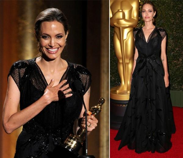 Angelina Jolie sparkles in Swarovski encrusted Atelier Versace gown