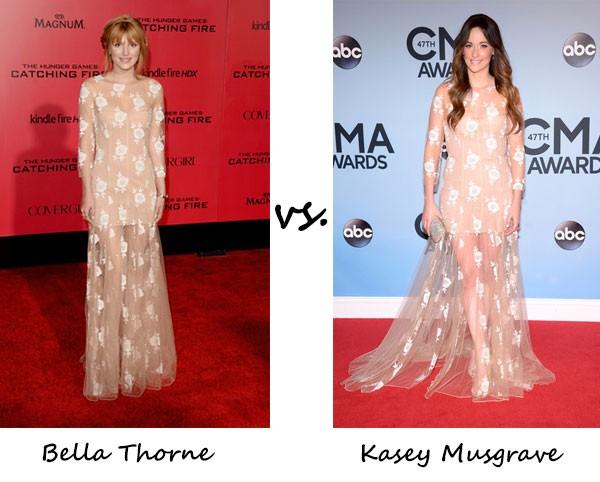 Bella Thorne vs. Kasey Musgraves…Who wore Blumarine better?