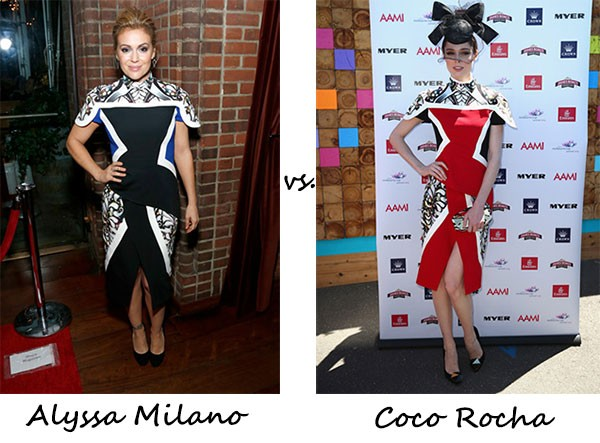 Alyssa Milano vs. Coco Rocha…Who wore Peter Pilotto better?