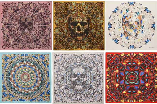 First look at the Damien Hirst for Alexander McQueen scarf collection