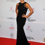 Eva Longoria rocks best friend Victoria Beckham's dress in London