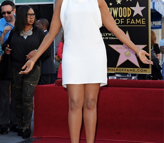 Jennifer Hudson wears Stella McCartney at her Hollywood Walk of Fame star