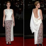 Jennifer Lawrence dares to bare (her back) in Dior for Hunger Games: Catching Fire London premiere