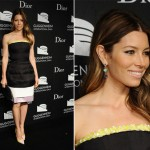 Jessica Biel is darling in Dior for Guggenheim International Gala
